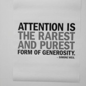 Give your attention in the now